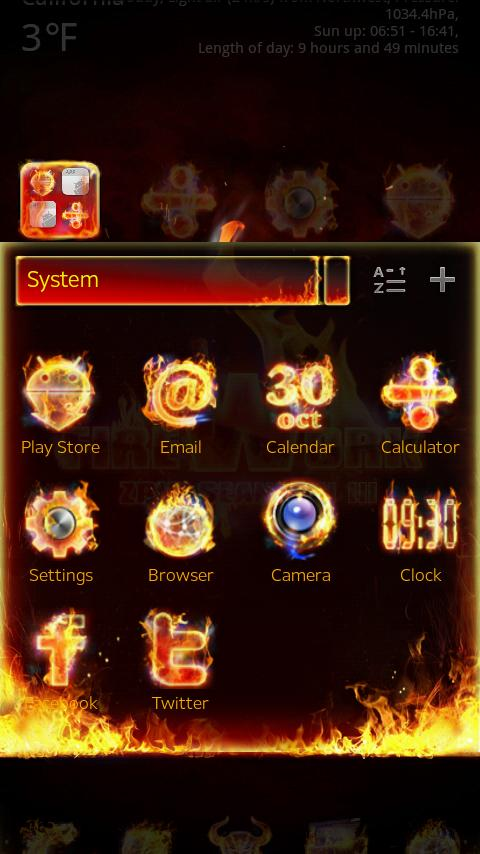 Firework GO launcherEX Theme- screenshot