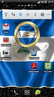 Nicaragua flag clocks - screenshot thumbnail