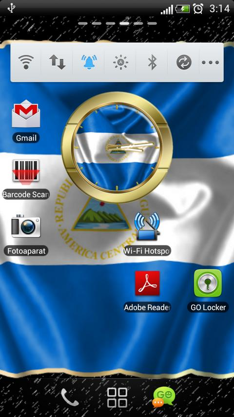 Nicaragua flag clocks - screenshot