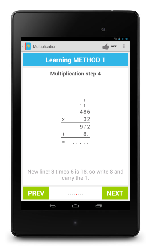 Learning Multiplication- screenshot