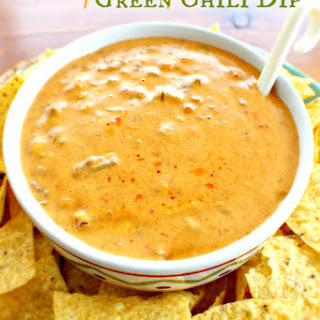 Spicy Cheesy Green Chili Dip.