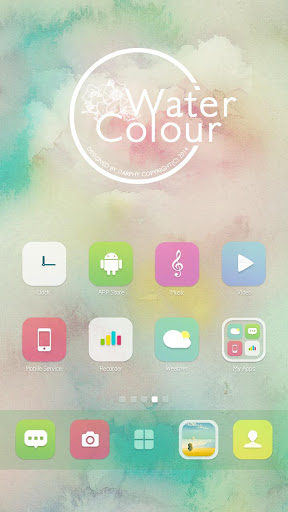【免費個人化App】Watercolour GO Launcher Theme-APP點子