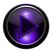 Poweramp skin TITAN PURPLEGRID