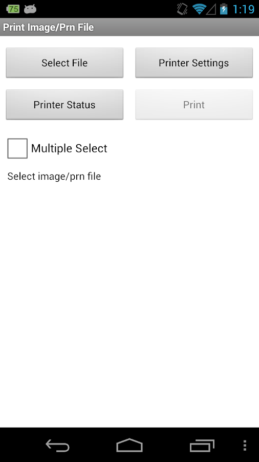 Brother Print SDK Demo- screenshot