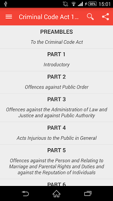 Nigerian Criminal Code 1990 - screenshot