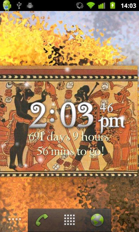 Countdown to Mayan 2012 LiveWP - screenshot