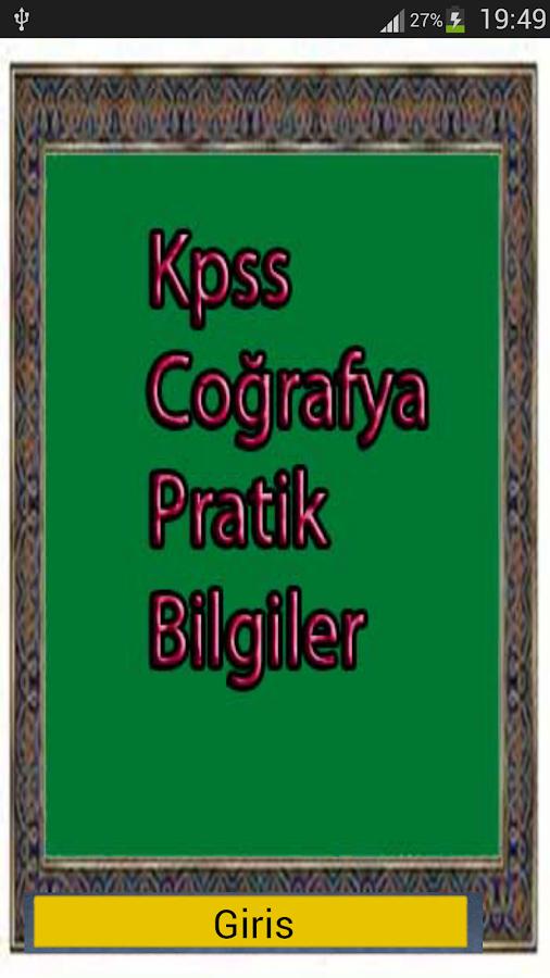 Kpss Coğrafya Pratik Bilgiler - screenshot