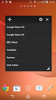Screenshot of RSS Feed Small App