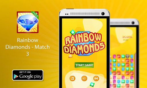 【免費解謎App】Best Rainbow Diamonds Match 3-APP點子