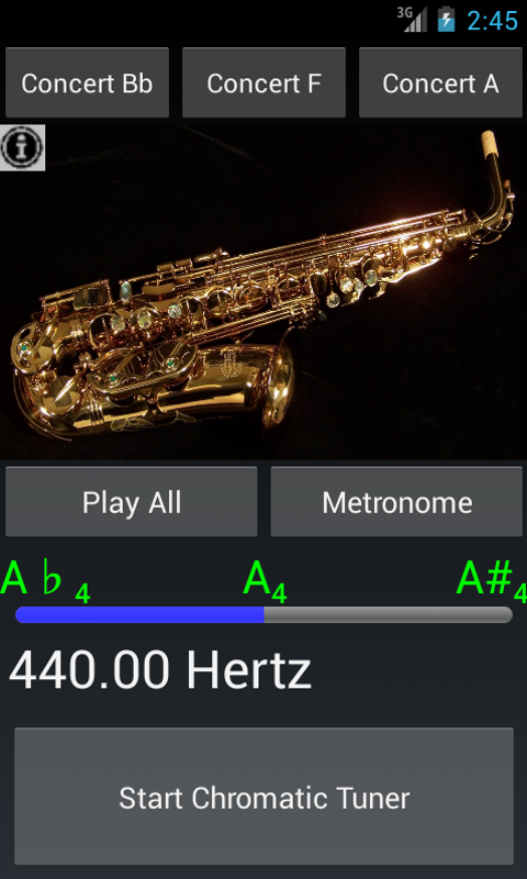 Easy Saxophone - Sax Tuner- screenshot