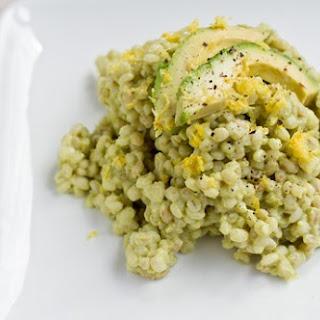 Creamy Avocado Barley Risotto