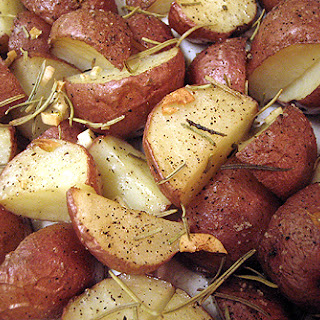 Roasted Potatoes With Garlic And Rosemary.