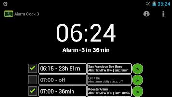 Screenshot of Alarm Clock 3 - music alarm