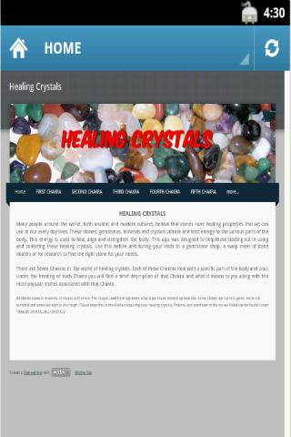Healing Crystals - screenshot