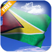 3D Guyana Flag Live Wallpaper