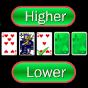 Higher or Lower card game icon