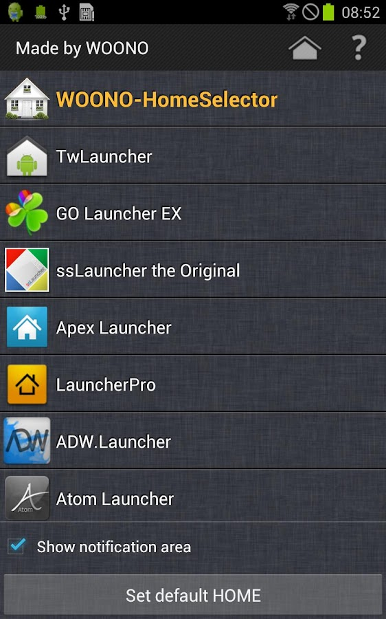 WOONO-Home Selector- screenshot