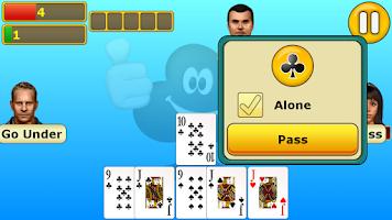 Screenshot of Euchre