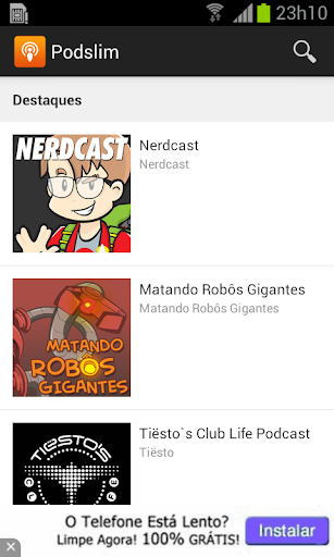 Podslim: Podcasts para Android