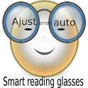 Smart reading magnifying glass icon