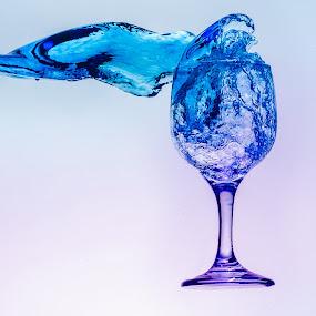 Splash Blue by Syahbuddin Nurdiyana - Abstract Water Drops & Splashes