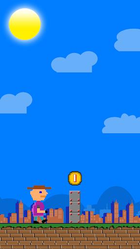 激しく揺れるジャンプマン不可能なゲーム