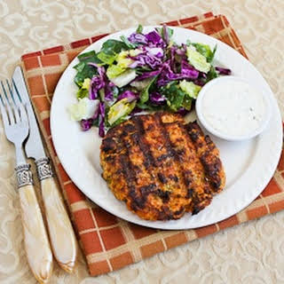 Grilled Fresh Salmon Burgers with Caper Mayonnaise.