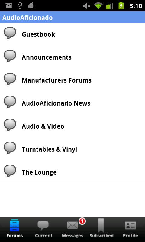 Audio Aficionado- screenshot