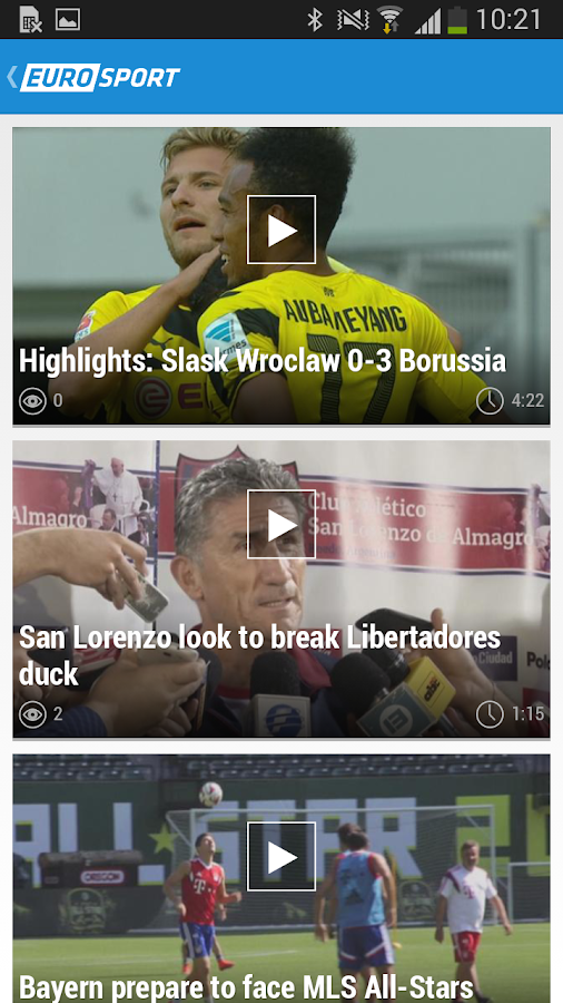 Eurosport.com- screenshot