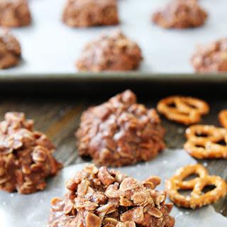No-Bake Chocolate Peanut Butter Pretzel Cookies