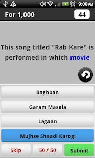 Bollywood Music Trivia - screenshot thumbnail