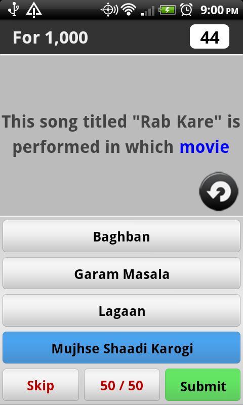 Bollywood Music Trivia - screenshot