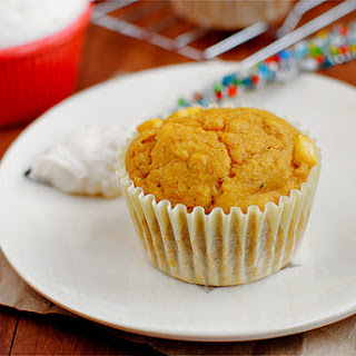 Apple Pumpkin Muffins with Cinnamon Cream Cheese Slather