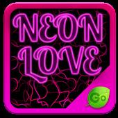 GO Keyboard Neon Love