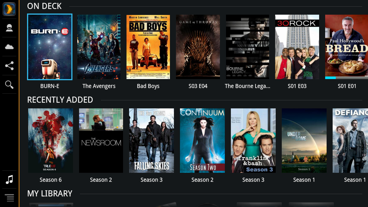 Plex for Google TV - screenshot