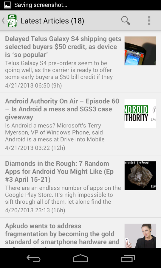 Android Authority - screenshot