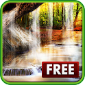 Forest 3D Waterfall Wallpaper icon