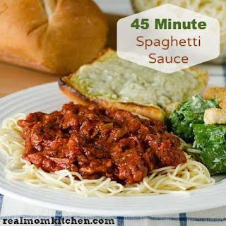 45 Minute Spaghetti Sauce