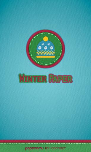 Winter paper go launcher theme