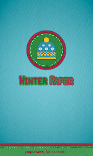 Winter paper go launcher theme - screenshot thumbnail