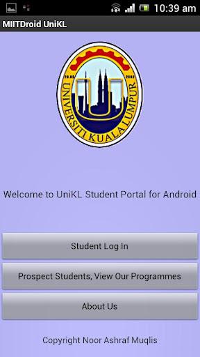 UniKL MIIT Student Portal App