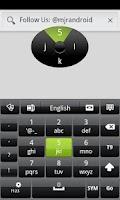 Screenshot of Black GO Keyboard Theme