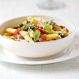Roasted Asparagus, Pancetta & Cherry Tomato Pasta