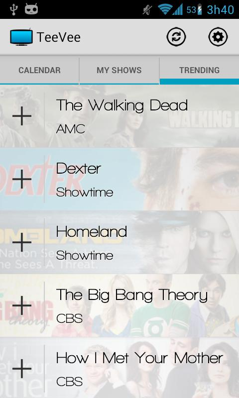 TeeVee Shows and Series Guide- screenshot
