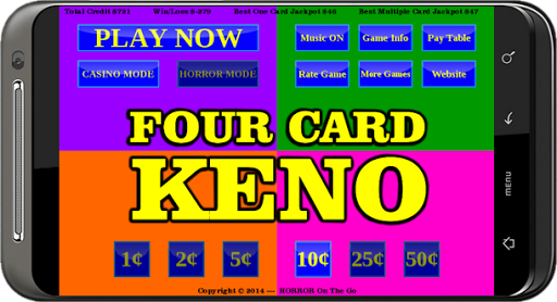 Keno card