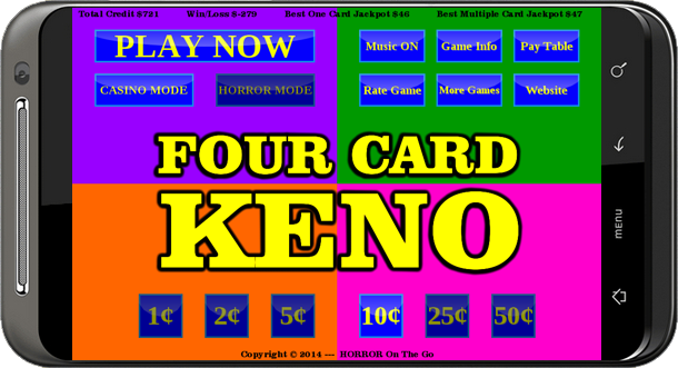 Play 20 card keno online