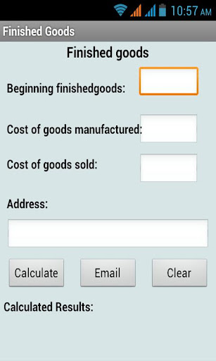 Finished Goods Calculator