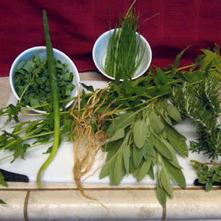 Garden Fresh Savory Herb Pea Soup