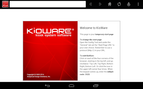 KioWare for Android Kiosk App - screenshot thumbnail