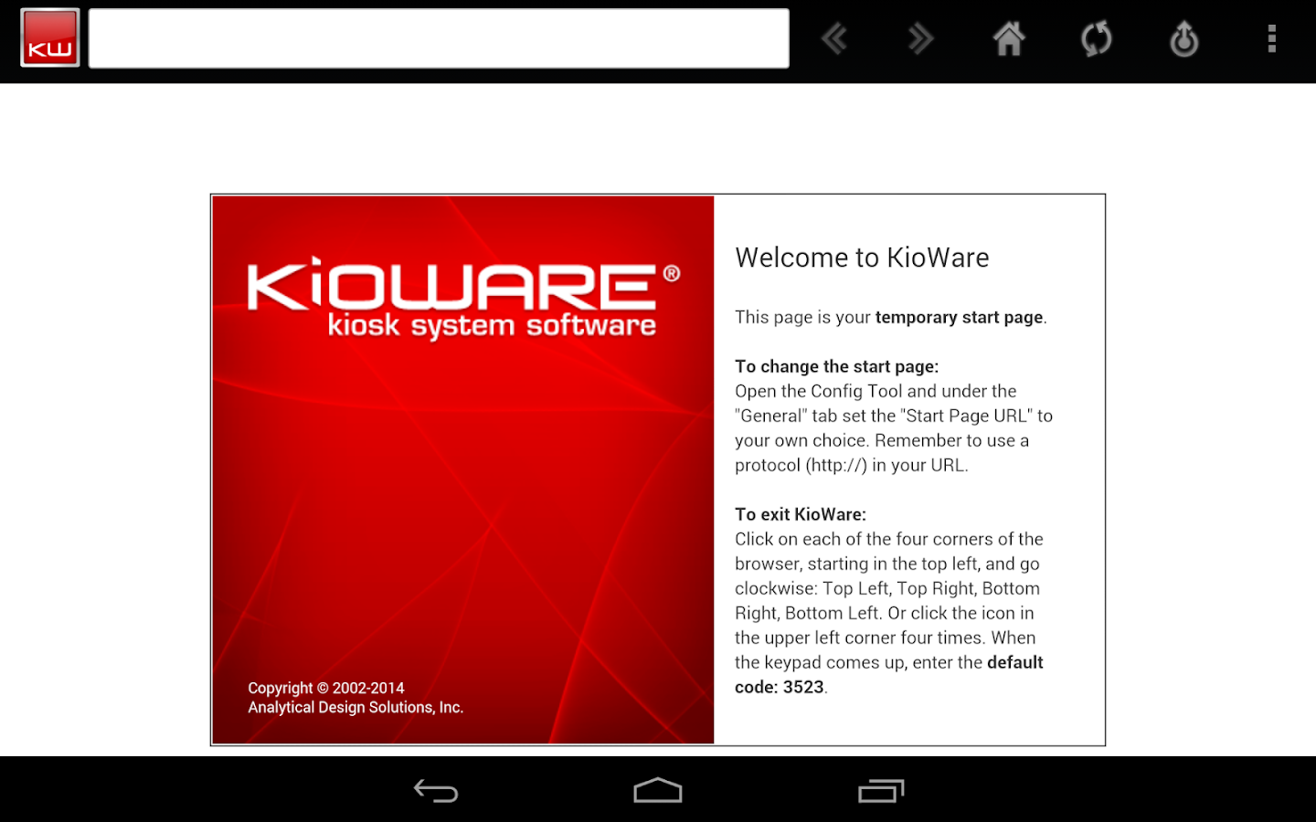 KioWare for Android Kiosk App - screenshot